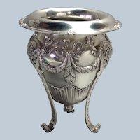 Shreve Vase Floral Sterling 24 Ounces