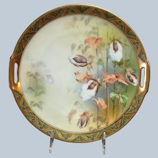 Rare Cotton Cake Plate R.S. Prussia