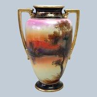 Nippon Landscape Vase
