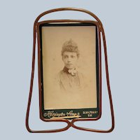 """English Arts and Crafts Copper 5"""" Frame"""