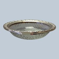 """Sterling and Glass Serving Dish Webster 6"""""""