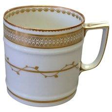 Duesbury Derby Mug Gold on White Early 19th c.
