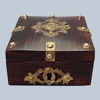 Pocket Watch Box Brass Antique