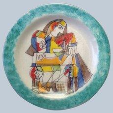 "Italian Moderne Plate by DeSimone 8.5"""