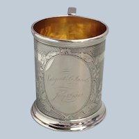California Coin Silver Presentation Cup Turner & Co. Circa 1862