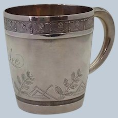 Wood and Hughes Engraved Sterling Cup Lee