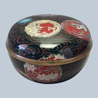 Fine Japanese Cloisonne Round Domed Box 19th c