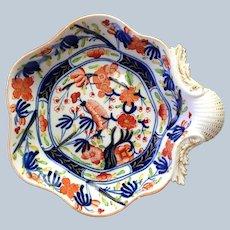 English Coalport Shell Cake Dish Early 19th c.
