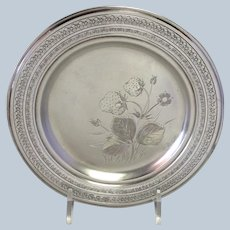 Whiting Aesthetic Strawberry Dish Sterling