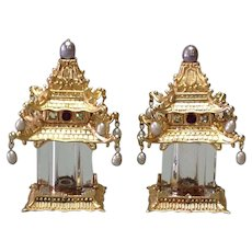 L'Objet Spice Jewels Pagoda Salt & Pepper Shakers