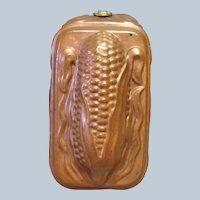 "Corn Mold Copper Vintage 6 5/8"""