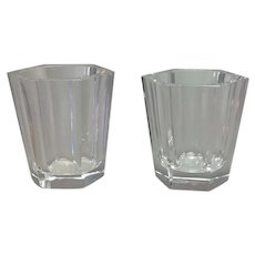 Two Baccarat France Shot Glasses Mid-Century