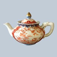 Japanese Imari Tea Pot Dragon Handle