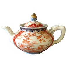 Japanese Imari Tea Pot Dragon Handle