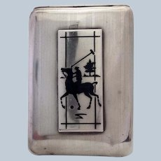 Polo Match Case Sterling 1920's