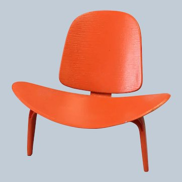 Vitra Miniature Orange LCW Chair by Charles & Ray Eames