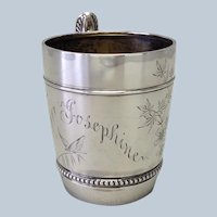 Gorham Sterling Cup 'Josephine'  Aesthetic Movement