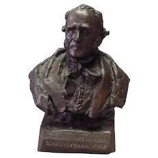 Small Bronze Bust of Sam Houston by Trace Guthrie