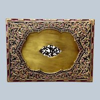 "Jay Strongwater Persia Jeweled Frame with Enamel 5"" by 7"""