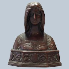 Bust of Beatrice Pompeian Bronze Plate 1910