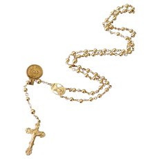 Rosary 14k Gold Estate NWT