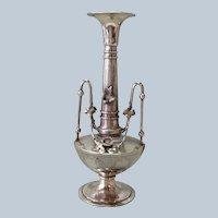 "American Victorian Figural Bird Coin Vase 9"" Shreve Crump & Low"