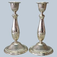 Pair of Wallace Sterling Candlesticks 9 3/8""