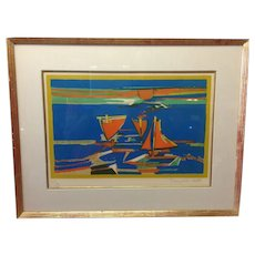 Francois Gilot 'Sails in the Sunset' Lithograph 47/70