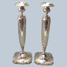 "Art Deco Sterling Candlesticks 13"""