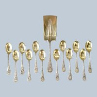 Wood and Hughes Sterling Ice Cream Set 13 Pieces Mono