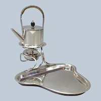 Individual Tea Server Hukin & Heath Silverplate Waiter