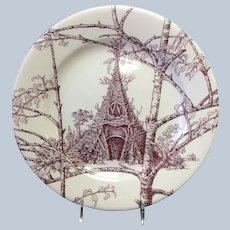 """Hermes Les Maisons Enchantees Dessert Plate 8 3/4"""""""