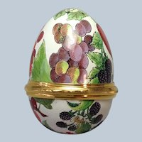 Halcyon Days Enamels Fruit Egg Box
