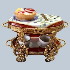 Limoges Dessert Serving Trolley Limited Edition S.M.