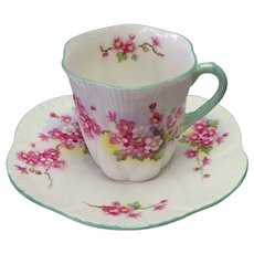 Shelley Bone China Tea Cup and Saucer by T.M James & Sons