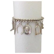Western Charm Bracelet 800 Silver