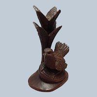 """Black Forest Bird on Nest Under Tree Sculpture 6 5/8"""""""