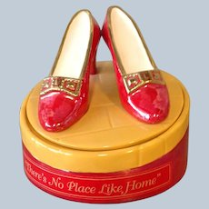 Wizard of Oz Ruby Slippers Cookie Jar 'There's No Place Like Home!'