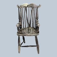Miniature Windsor Chair Sterling 1900