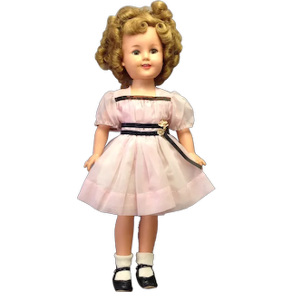 """Shirley Temple Ideal 16"""" Doll 1957 Original Clothes"""