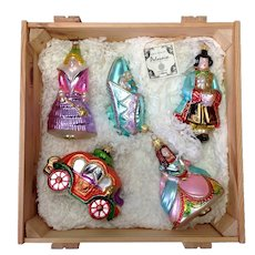 Kurt Adler Cinderella Polonaise Christmas Collection Ornaments Crate