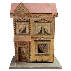 """Antique Bliss Dollhouse #570 Small! 9 3/8"""" High"""