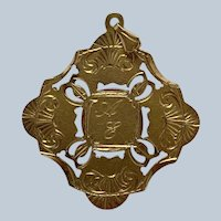 Gold Pendant Medal 18 Karat