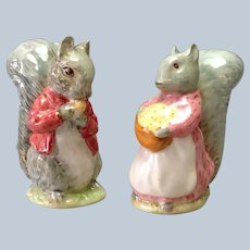 Pair Squirrel Figurines  Beswick Porcelain 1961