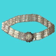 Silver Coin Belt Guatemalan 1/4 Real 22""