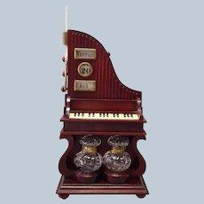 Piano Music Box Calendar Ink Wells Desk Organizer
