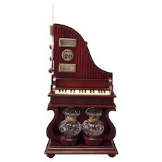 Piano Music Box Calendar Ink Wells Desk Organizer