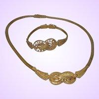 Greek Inspired 18 Karat Yellow Gold Necklace/Bracelet