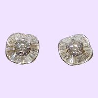18KWG Diamond Earrings