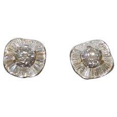 18KWG Diamond Earrings